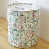 Fabric Dirty Folding Toy Clothes Laundry Basket Cartoon Pattern Home Clothes Toys Storage Baskets Home Storage Organization Bins