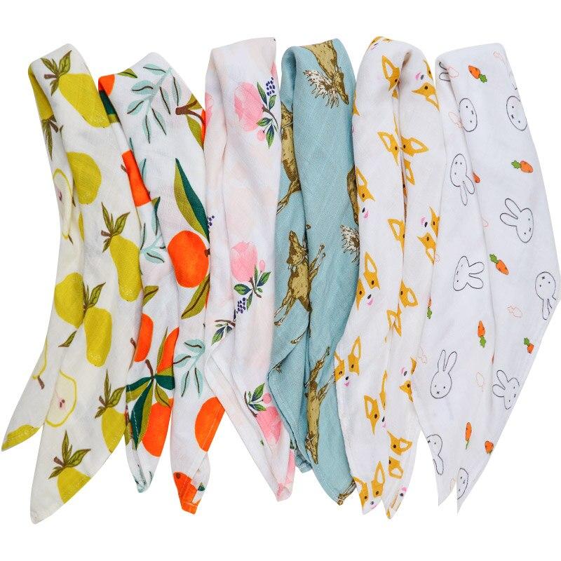 Baby Blankets Newborn Muslin Swaddle Wrap Soft Baby Bibs Bandana Burp Cloth Scarf Versatile Hanky Kerchief Hand Towel Baby Stuff