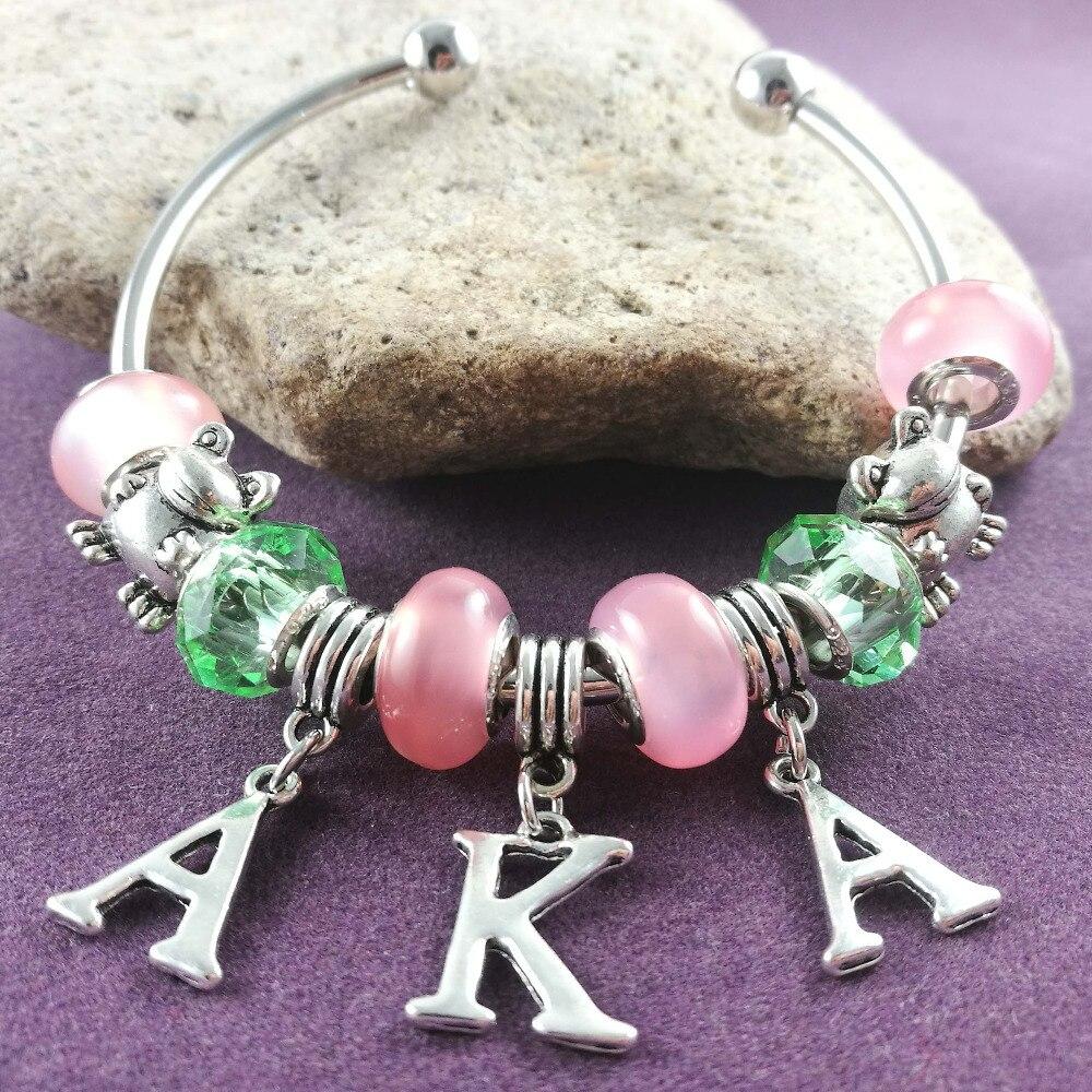 65fc3bab9521 Nueva rosa y verde grano aka Rana encanto brazalete hermandad ...