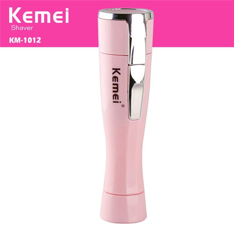 Kemei KM-1012 Mini Dame Épilateur Électrique Rasoir Femmes Cheveux Remover Portable Dépilatoire Femelle Rasoir Rasoir Voyage Essentials