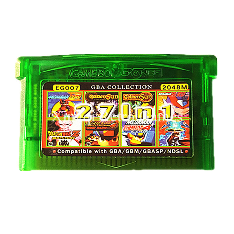 Nintendo GBA Game EG007 27 in 1 Video Game Cartridge Console Card Compilations Collection English Language