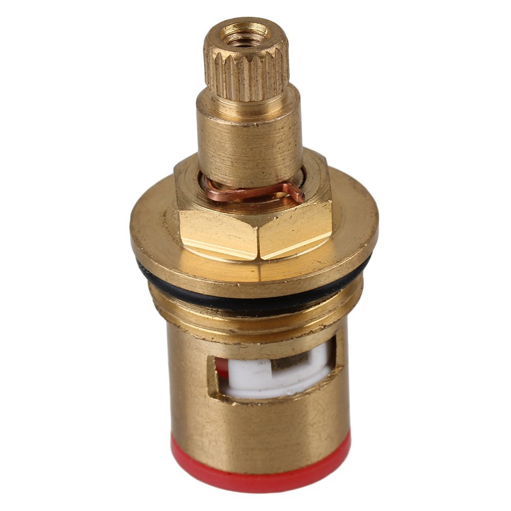 Brass bathroom fittings - Brass 7 7mm Faucet Ceramic Disc Cartridge Valve Core Tap Fittings Clockwise Home Kitchen Bathroom 44x23mm