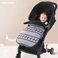 baby Stroller Sleeping bag Winter child cart windproof waterproof and warm footwear outdoor thickening of chorionic velvet