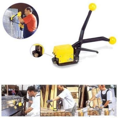 Manual A333 Steel Strapping Combinatio Tool Machine For 1/2-3/4 Straps portable manual steel strapping tool seal free 1 2 3 4 handheld packaging equipment without seals steel banding machine a333