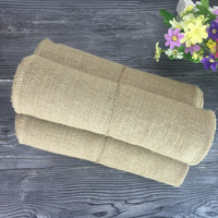 2PCS/LOT 30CM *5M Natural Jute Burlap Fabric Roll For Country Rustic Party Decoration Gift Packing