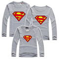 Superman Family Matching Outfits Long Sleeve T shirt For Family Sets Father Son Matching Clothes Mother Daughter Clothes