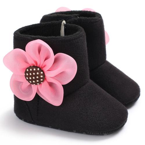 Toddler Baby Girl Infant Flower Crib Shoes Soft Sole Non-slip Sneakers Prewalker