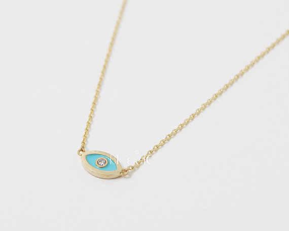 Kinitial kolye Evil Eye สร้อยคอสร้อยคอจิตวิญญาณ Charm Lucky ชาวยิว Nazar Arabirc collares de moda 2019