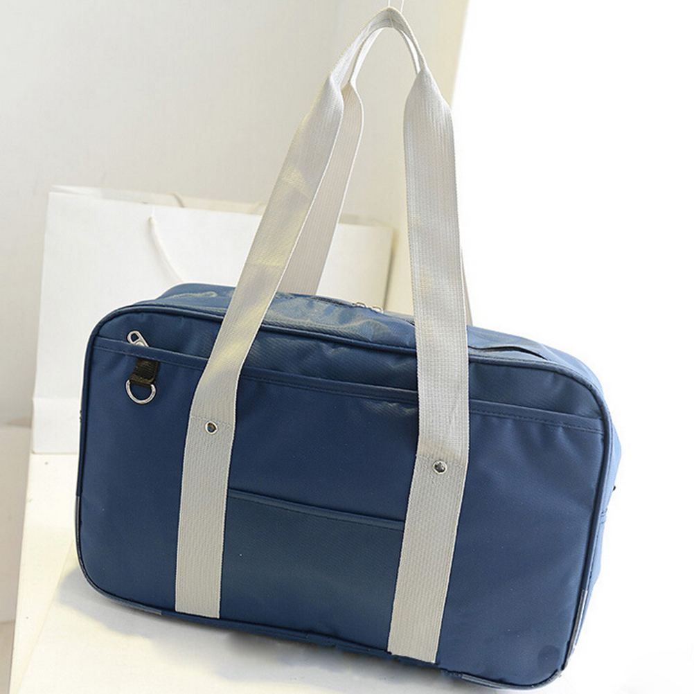Handbags Japanese Students High-School Travel-Bag Unisex Oxford Solid Square Single