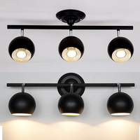 black ceiling lamps be turned dome light clothing store LED spotlights track lights installed TV background headlights light