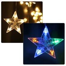 Curtain Star Led String Lights Christmas xmas Fairy Lights AC 220V 110V novelty Decoration Lamp for Wedding/Party/Curtain/Garden