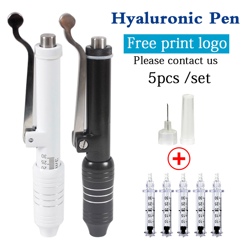 5Pcs/set Hyaluronic Acid Pen Hyaluron Syringe Needle Massage Atomizer Pen Kit High Pressure Acid Guns Anti Wrinkle Water Syringe5Pcs/set Hyaluronic Acid Pen Hyaluron Syringe Needle Massage Atomizer Pen Kit High Pressure Acid Guns Anti Wrinkle Water Syringe