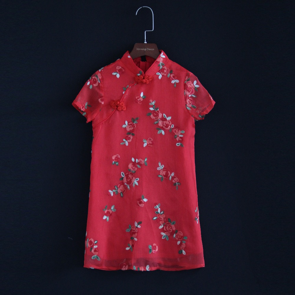 Summer mother and girls matching dress family custom women 4XL floral dress children toddle girl 6M-16Y A-line cheongsam dresses women s embroidered office dress spring and summer new vintage embroidery plus size elegant slim lady midi a line dress m 4xl
