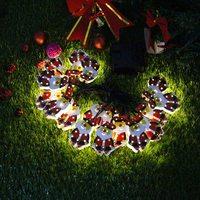 Akülü/Güneş Enerjili 6 M 20 LED Dize Işık Peri Noel Baba Şekilli LED Tatil Işıklar Noel dekorasyon