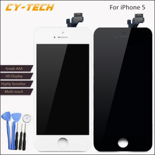 HotSale No Dead Pixel Display For Apple iPhone 5 LCD Touch Screen Replacement With Digitizer 4.0 inches High Quality White Black