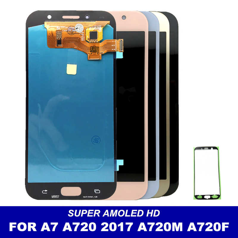 Getestet Super AMOLED LCD Ersatz Für Samsung Galaxy A7 2017 A720 A720F A720M A720Y Display Touchscreen Digitizer Montage
