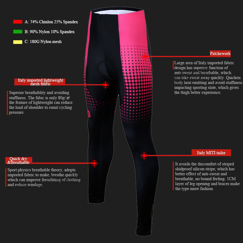 Siilenyond 2019 Pro Women Winter Thermal Cycling Pants MTB Bicycle Cycling Tights Mountain Bike Trousers With 3D Gel Padded 5