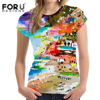 3D Bright Printed Fashion T-Shirt