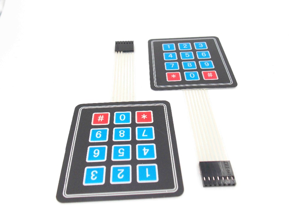 2pcs 3X4 Matrix Keyboard Array Module 12 Key Membrane Switch Expansion Keypad Panel 3*4 Control Microprocessor AVR