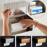 Stainless Steel Wall Adhesive Paper Holders Rack Toilet Paper Holders Rack Holder Bathroom Towel Holder Paper Tissue Dispenser
