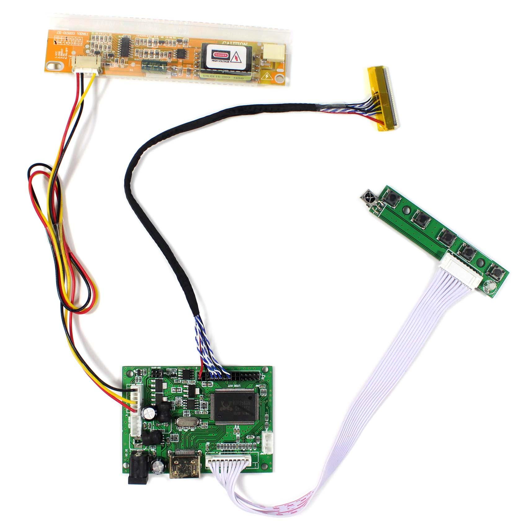 HDMI VGA DVI LCD Control Board For LP154WX4 LP154W01 N154I2 1280x800 LCD Screen