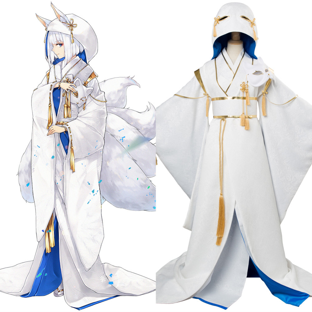 Game Azur Lane Cosplay Kaga Costume Blue Orchids Wedding Dress Adult Women Halloween Carnival Costume Japanese Clothes kimono