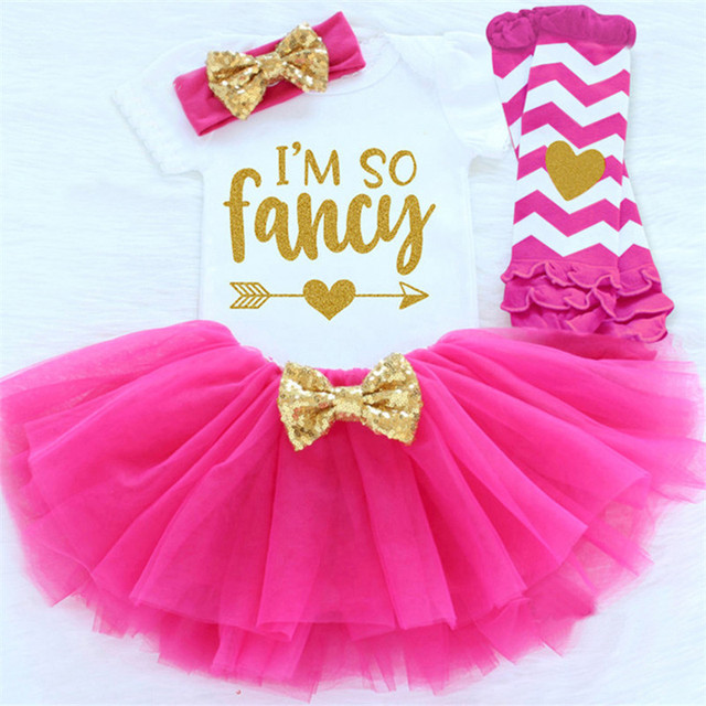 Baby Clothing Sets For Newborn Infant Girls 1 2 Years Birthday Gift Party Wear Fancy Tutu