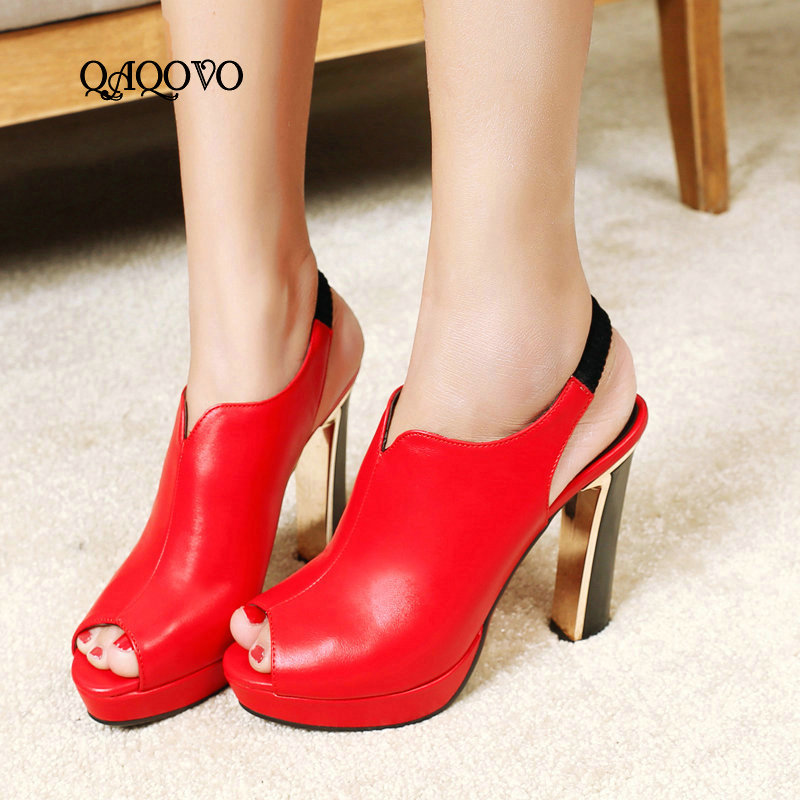 2019 Summer Open Toe High Heels Female Platform Gladiator Sandals Super High Heels Pumps Slip On Party Dress Shoes Women