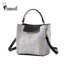 Funmardi Эксклюзивная Модная ИСКУССТВЕННАЯ кожа сумка Крокодил стиль ведро сумки Бренда дизайн Женщин Сумки знаменитые сумки WLHB1501