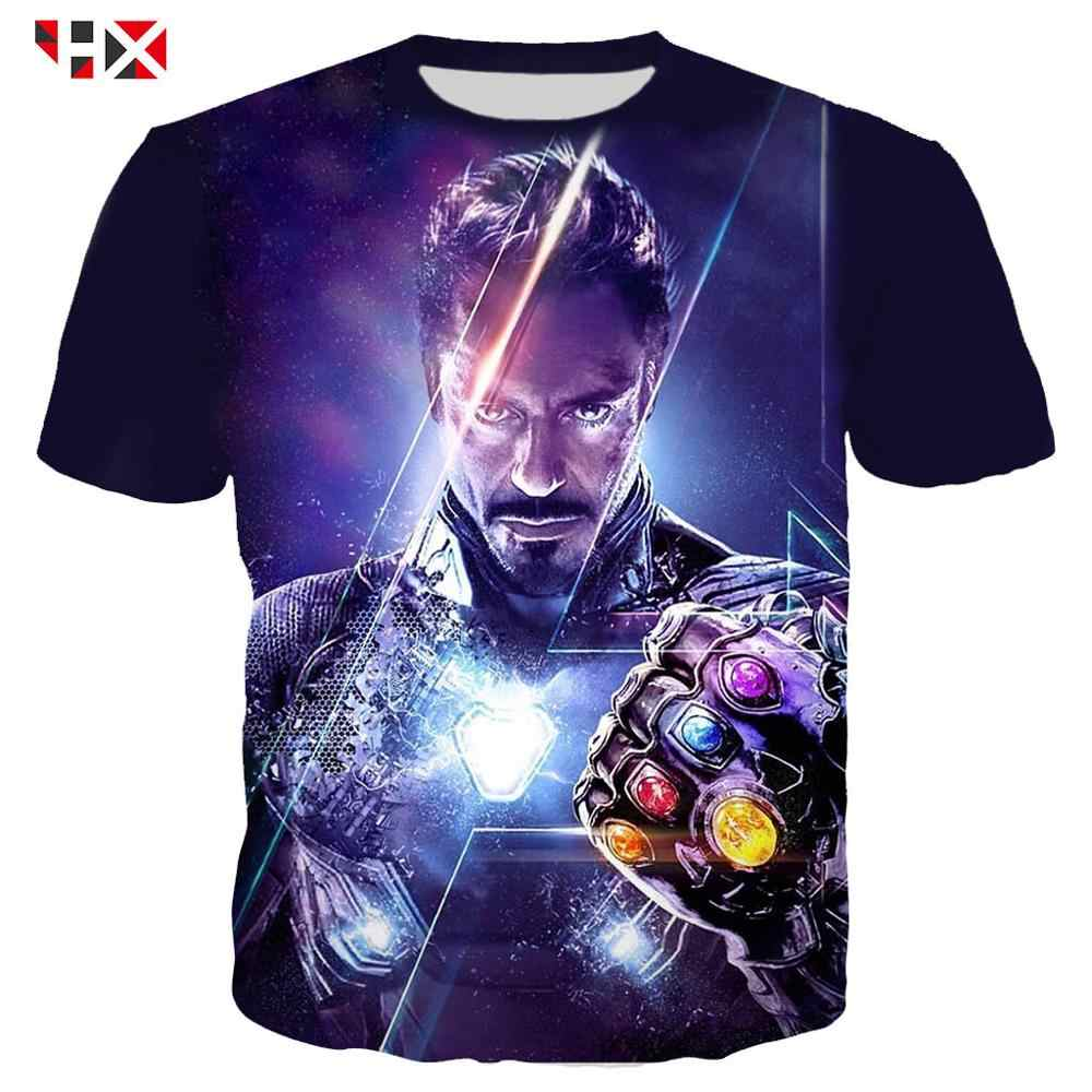 Summer 3D Printed Avengers Iron Man Infinite Gloves Men T Shirt Harajuku Style T Shirts Men Women Streetwear Pullover Z24