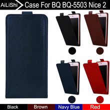 AiLiShi For BQ BQ-5503 BQ 5503 Nice 2 Case Up And Down Vertical Phone Flip Leather Case Phone Accessories 4 Colors Tracking bq hephestos 2