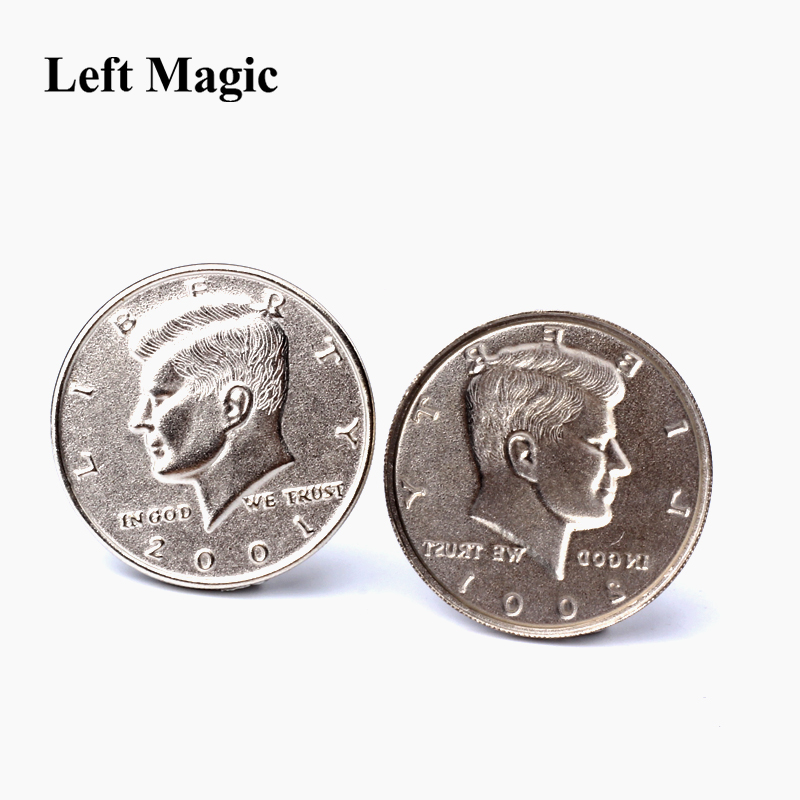 Expanded Shell Half Dollar ( Head ) Magic Tricks Appearing Vanish Coin Magie Accessories Close Up Magic Gimmick Prop Illusion