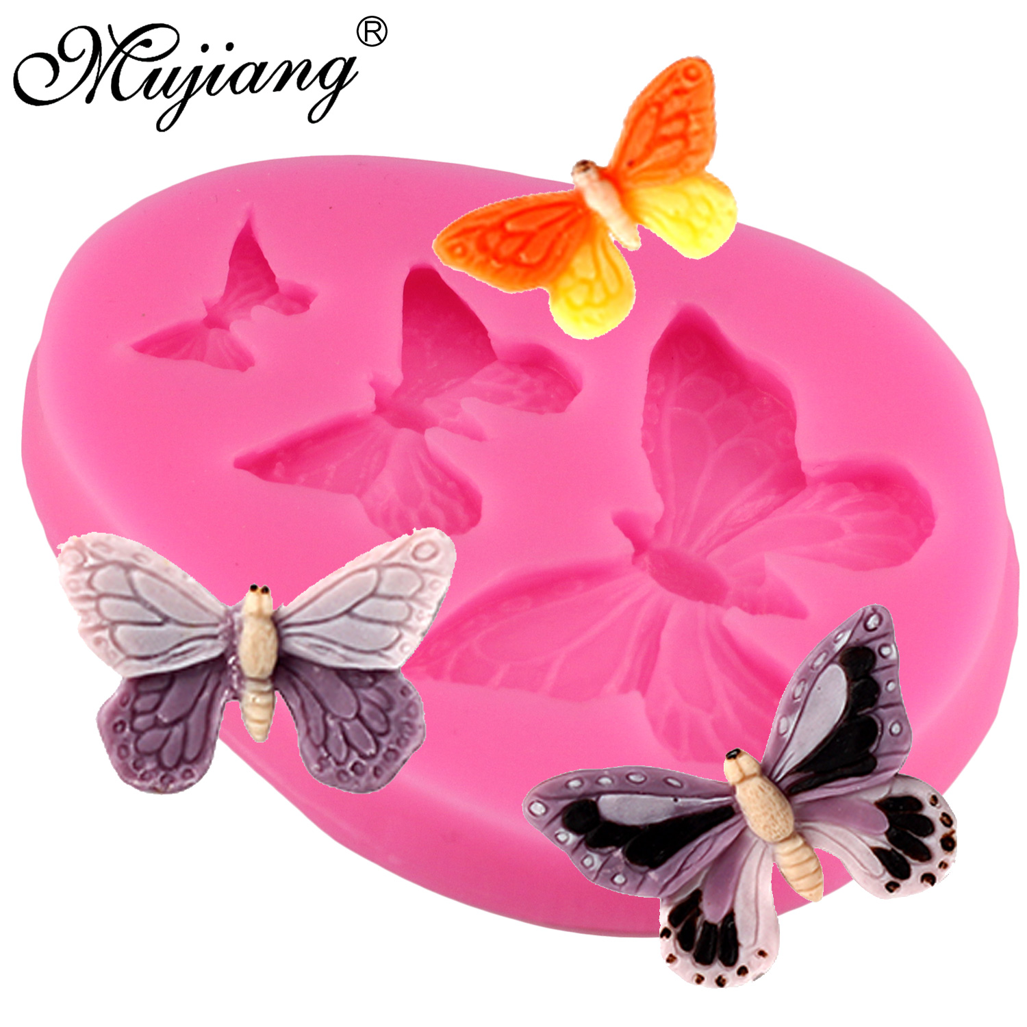 3D Butterfly Silicone Fondant Mould Chocolate Sugarcraft Cake Mold Baking DIY