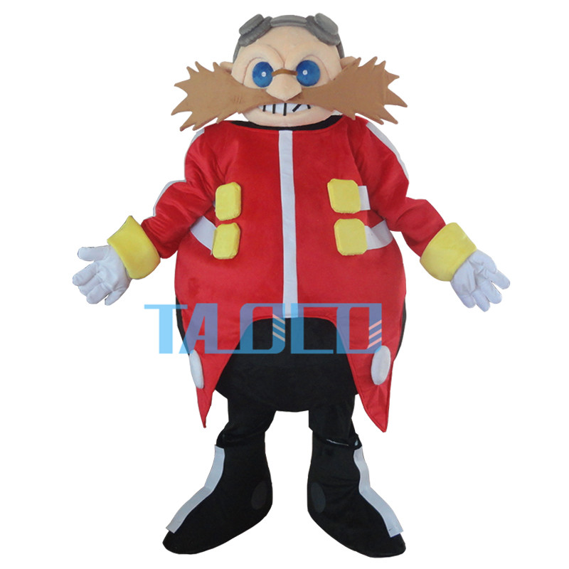Docteur jaune intelligent Sonic le Costume de mascotte hérisson