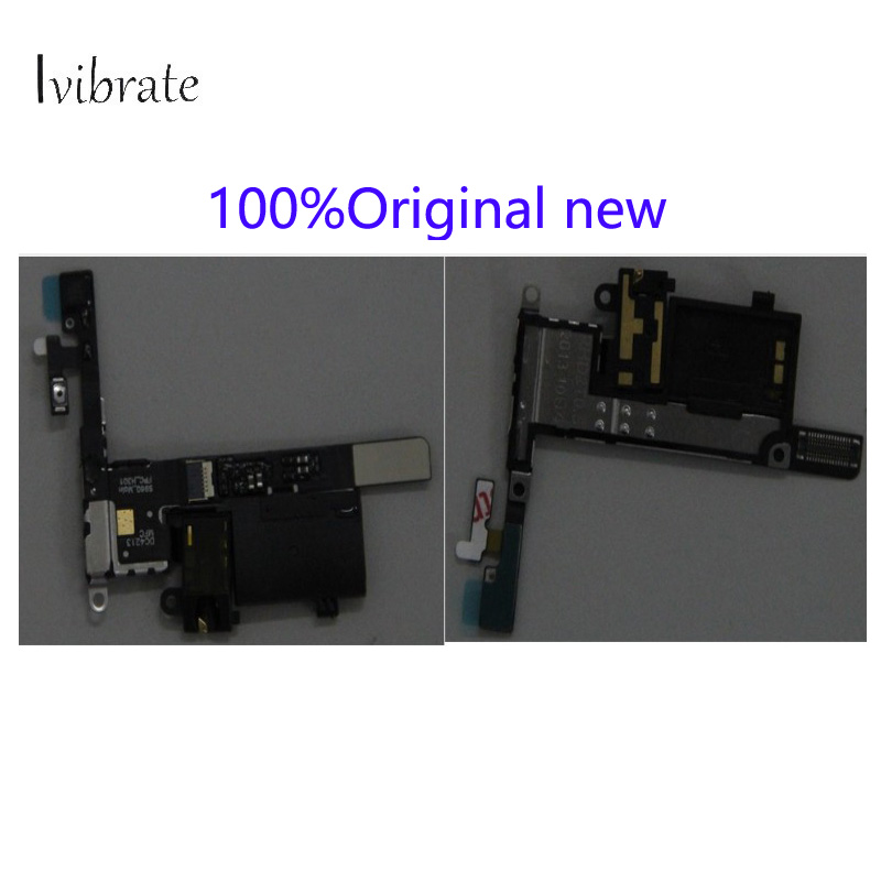 100%Original new For Lenovo S960 Power swtich earphone headset audio jack plug flex cable repair parts S 960 flex cable