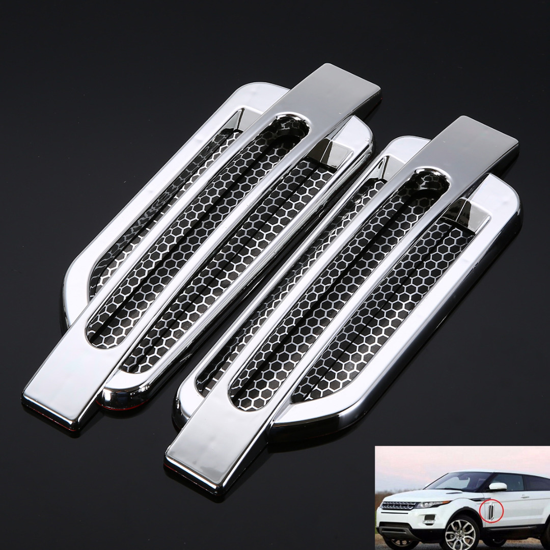 1Pair Car Styling Air Fow Fender Cover Auto Body Side Air Flow Vent Fender Intake Grille Decoration Sticker For Audi BMW