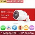 WiFi + cartão SD # H.264 VBR + 3DRN ONVIF HD 720 P GANVIS 1mp câmera IP rede cctv câmera de segurança de vigilância por vídeo GV-E122-SDW