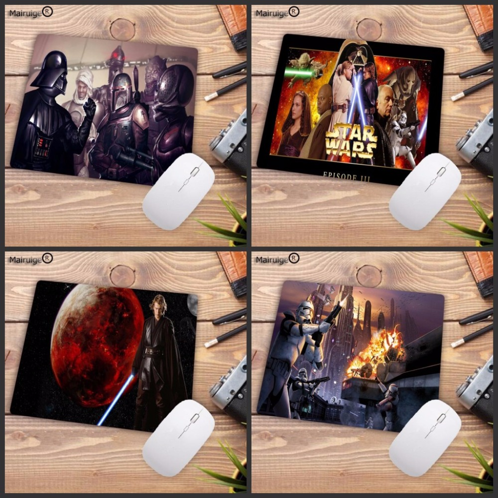 Mairuige Hot Movie Star Wars Painting Gaming Mouse Pad NO Lock Edge Rubber Mousepad for PC Computer Office Game Player Mice Mat image