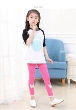 Summer baby girls Capri pants  cartoon cute casual color animal soft elastic Wild Slender leggings thin calf