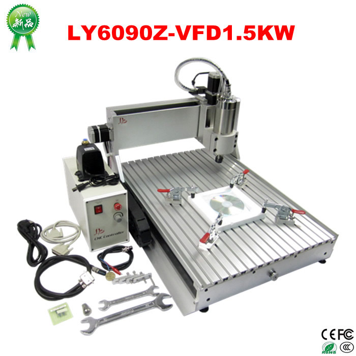 1500w wood metal milling machine 6090 cnc cutting router, Russia free tax high steady cost effective wood cutting mini cnc machine milling