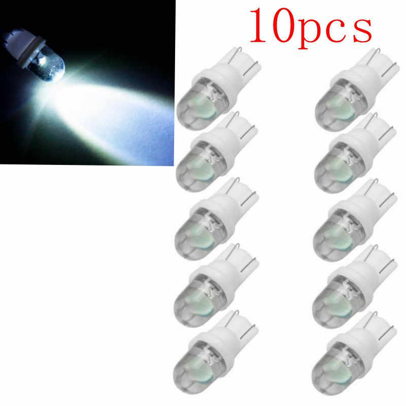 kongyide Car Light 10Pcs T10 W5W LED Lights Car Wedge Light Side Number Plate Lamp 12V  Bulb Multicolor dropship f27