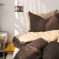 Современный кратким и ветер двусторонний чистого разноцветная с устойчивым каблуком постельное белье четыре 1 предмет постельные принадле