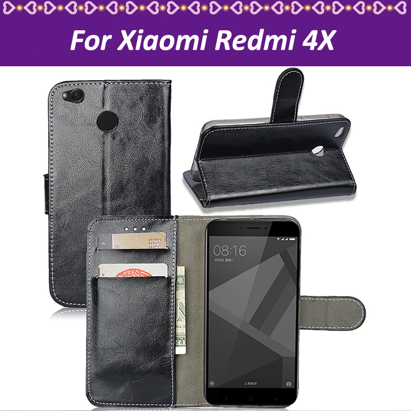 Lamocase Capa For Redmi 4X Case Cover For Xiaomi Redmi 4X Case Silicone Wallet Flip Leather