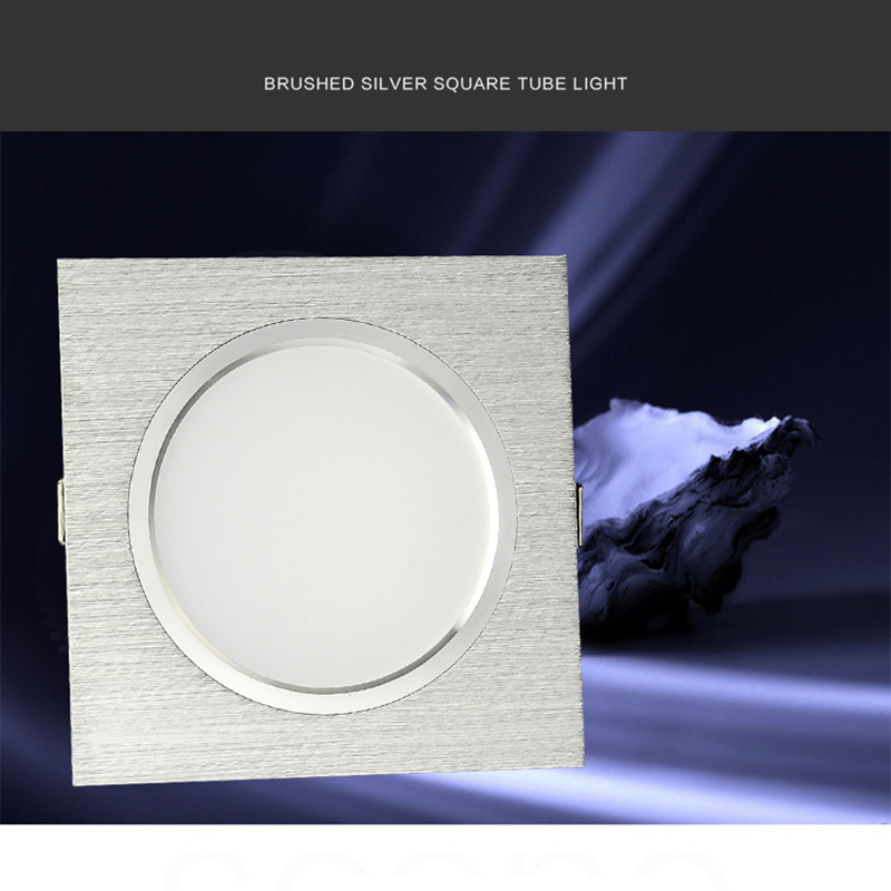 1pcs Super Bright Recessed LED Dimmable Square Downlight 5W 7W 9W 12W 15W LED Spot light decoration Ceiling Lamp AC 110V 220V 20pcs waterproof driverless dimmable led downlight 5w 7w 9w 12w 15w ceiling lamp light lighting energy saving down lamp ac 220v