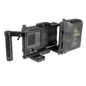 Image 3 - CAMVATE Adjustable DSLR Camera Monitor Full Cage Rig With Dual Cheese Handle & Camera Video V lock Quick Release Battery Plate
