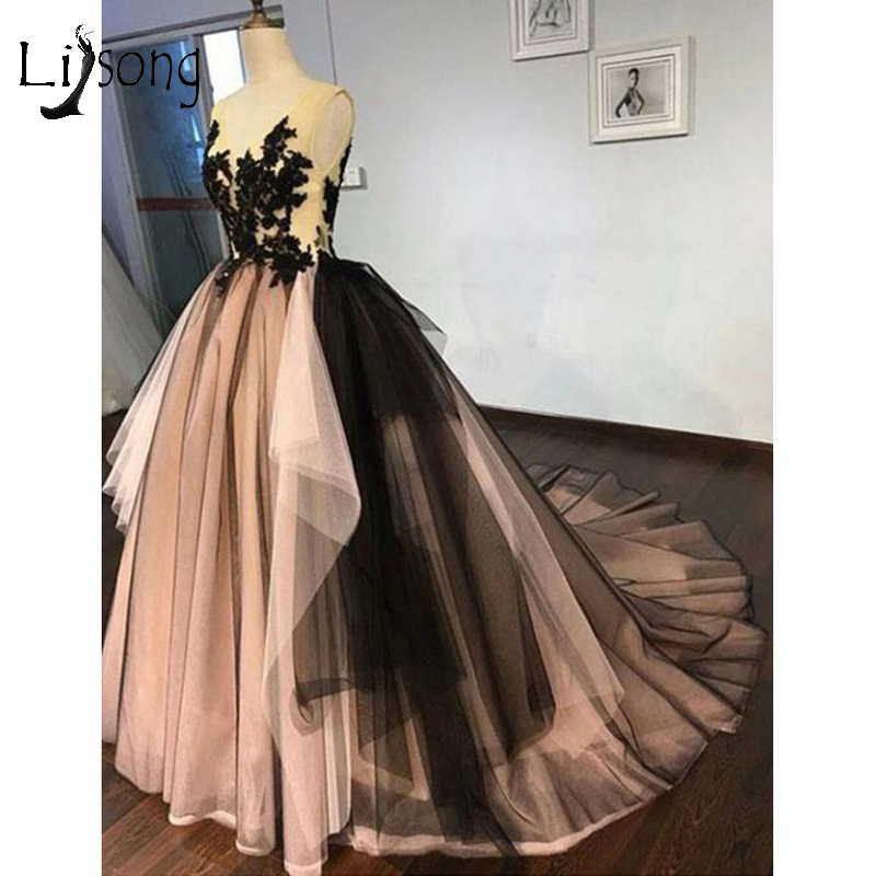 Vintage Mix Color Tutu   Prom     Dresses   Appliques Lace Long   Prom   Gowns Ruffles Sexy Backless Formal Evening Gowns Vestidos Longo