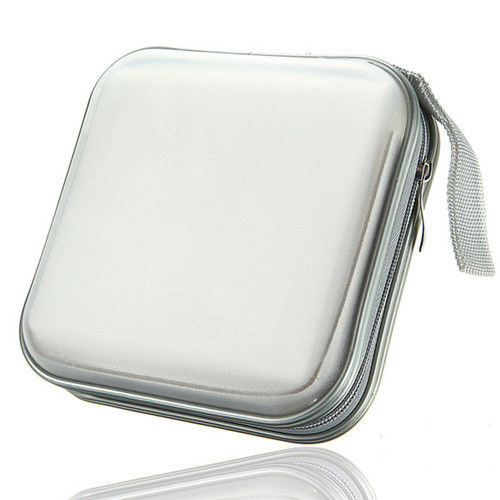 EDT-40 CD DVD Disc Storage Carry Case Cover Holder Bag Hard Box - White ...