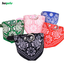 Pet Accessories Small Dog Collar Scarf Print Fabric Adjustable Pet Dog Bandana Pattern Puppy Scarf for Small Medium Dogs Cats