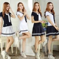 3XL Schooluniformen Sailor Uniformen Korte Mouwen T-shirt + Rok Stuk Voorzien Sexy Meisjes Plus Size Japanse Cosplay Anime dragen