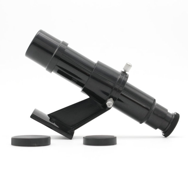 Datyson 5x24 astronomical Telescope Finderscope Star Pointer Finder scope Riflescopes with Sight Bracket crosshair Black